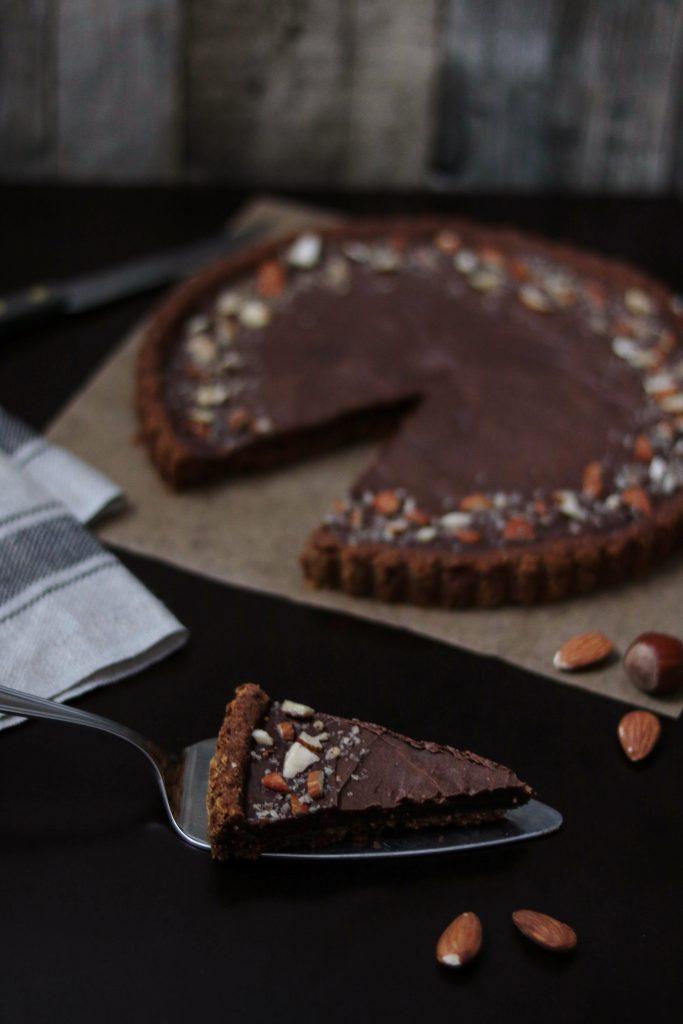 Haselnuss Schokoladen Tarte Vegan